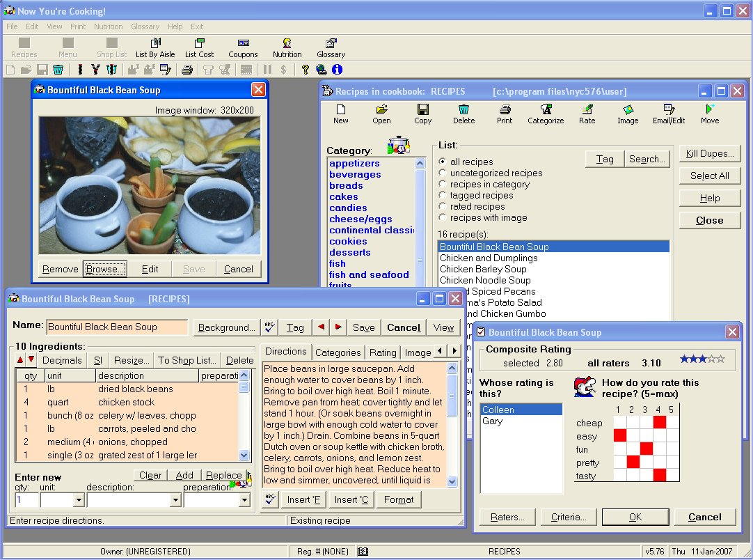 Cyberkitchen recipe software to manage all aspects of cooking Screen Shot